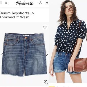 Madewell relaxed fit denim cut off shorts sz 27